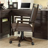 Riverside Furniture Promenade Desk Chair in Warm Cocoa