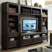 Riverside Furniture Promenade TV Entertainment Center in Warm Cocoa