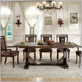 Riverside Furniture Promenade Trestle Table in Warm Cocoa