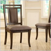 Riverside Furniture Promenade Upholstered Side Chair in Warm Cocoa