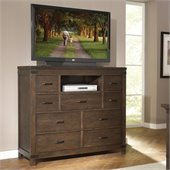 Riverside Furniture Promenade 9 Drawer Media Chest in Warm Cocoa