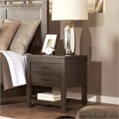 Riverside Furniture Promenade 2 Drawer Nightstand in Warm Cocoa
