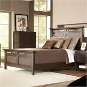 Riverside Furniture Promenade Panel Platform Bed in Warm Cocoa