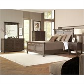 Riverside Furniture Promenade Panel Platform Bed 4 Piece Bedroom Set in Warm Cocoa
