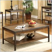 Riverside Furniture Timber Ridge Rectangular Cocktail Table in Homestead Distressed Oak