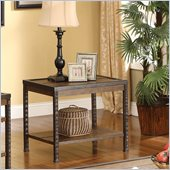 Riverside Furniture Timber Ridge End Table in Homestead Distressed Oak