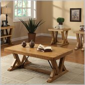 Riverside Furniture Summerhill Rectangular Cocktail Table in Canby Rustic Pine