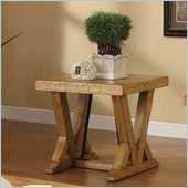 Riverside Furniture Summerhill End Table in Canby Rustic Pine