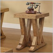 Riverside Furniture Summerhill Chairside Table in Canby Rustic Pine