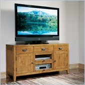 Riverside Furniture Summerhill 58 Inch TV Console in Canby Rustic Pine