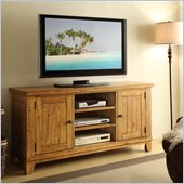 Riverside Furniture Summerhill TV Console in Canby Rustic Pine
