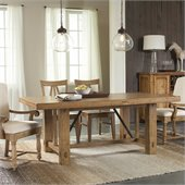 Riverside Furniture Summerhill Rectangular Dining Table in Canby Rustic Pine