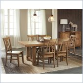 Riverside Furniture Summerhill 7 Piece Dining Table Set in Canby Rustic Pine
