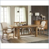 Riverside Furniture Summerhill 5 Piece Dining Table Set in Rustic Pine