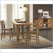 Riverside Furniture Summerhill 6 Piece Dining Table Set in Rustic Pine