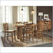 Riverside Furniture Summerhill 8 Piece Dining Table Set in Rustic Pine