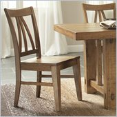 Riverside Furniture Summerhill Side Chair in Canby Rustic Pine