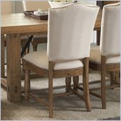 Riverside Furniture Summerhill Upholstered Side Chair in Canby Rustic Pine