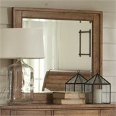 Riverside Furniture Summerhill Landscape Mirror in Canby Rustic Pine