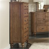 Riverside Furniture Summerhill 6 Drawer Chest in Canby Rustic Pine