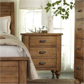 Riverside Furniture Summerhill 3 Drawer Nightstand in Canby Rustic Pine