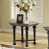 Riverside Furniture Williamsport End Table in Nutmeg/Kettle Black
