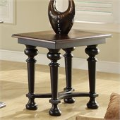 Riverside Furniture Williamsport Chairside Table in Nutmeg/Kettle Black