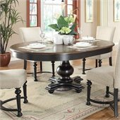 Riverside Furniture Williamsport Round Dining Table in Nutmeg/Kettle Black