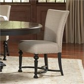 Riverside Furniture Williamsport Dining Side Chair in Kettle Black