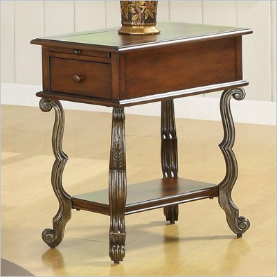 Riverside Furniture Ambrosia Chairside Table in Terra Sienna