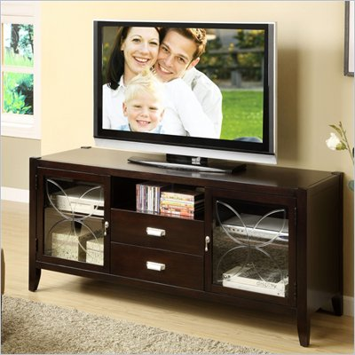 Riverside Furniture Annandale 60-Inch TV Console in Dark Mahogany