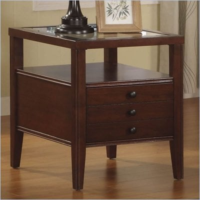 Riverside Furniture Avenue Rectangular End Table in Dark Cherry