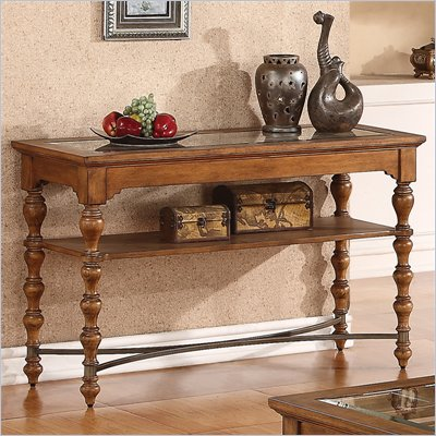 Riverside Furniture Bainbridge Sofa Table in Tuscan Burnished Wheat