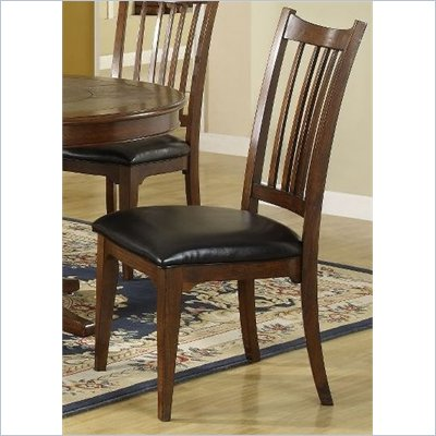Riverside Furniture Bella Vista Dining Side Chair in Warm Cherry