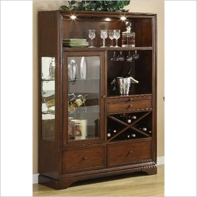 Riverside Furniture Bella Vista China Cabinet in Warm Cherry