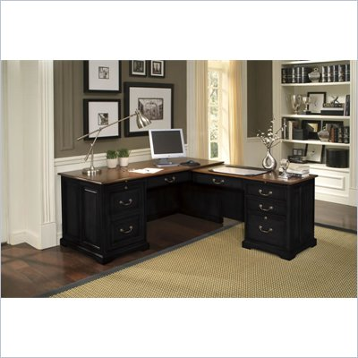 Riverside Furniture Bridgeport Workstation in Burnished Cherry