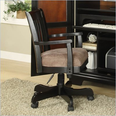 Riverside Furniture Bridgeport Desk Chair in Antique Black