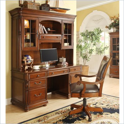 Riverside Furniture Bristol Court Computer Station in Cognac Cherry