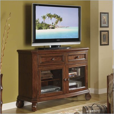 Riverside Furniture Cape May TV Stand in Chadwick Cherry