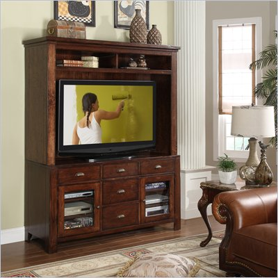 Riverside Furniture Castlewood Entertainment Center in Warm Tobacco