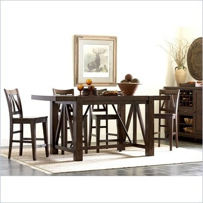 Riverside Furniture Castlewood Gathering Table in Warm Tobacco
