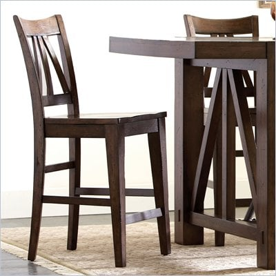 Riverside Furniture Castlewood Counter Stool in Warm Tobacco