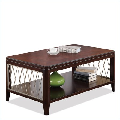 Riverside Furniture City Retreat Rectangular Cocktail Table in Ebony
