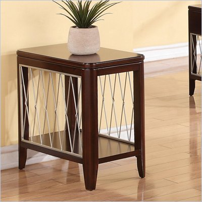 Riverside Furniture City Retreat Chairside Table in Ebony