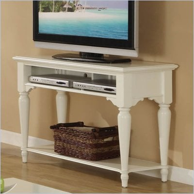 Riverside Furniture Cliffside Sofa/Console Table in Shores White