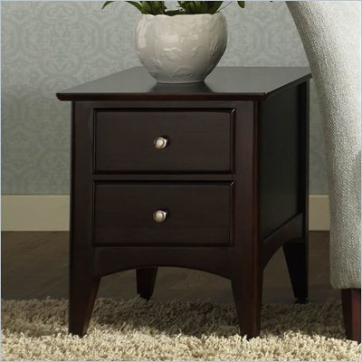 Riverside Furniture Cosmopolitan Two Drawer End Table in Espresso