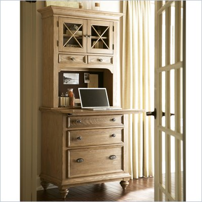 Riverside Furniture Coventry Workstation in Driftwood