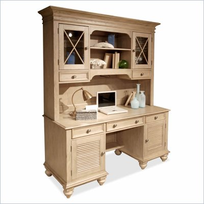 Riverside Furniture Coventry Credenza &amp; Hutch in Driftwood