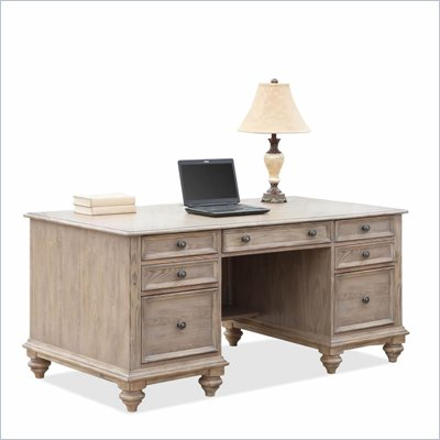 Riverside Furniture Coventry Executive Desk in Weathered Driftwood