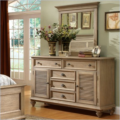 Riverside Furniture Coventry Dresser in Driftwood